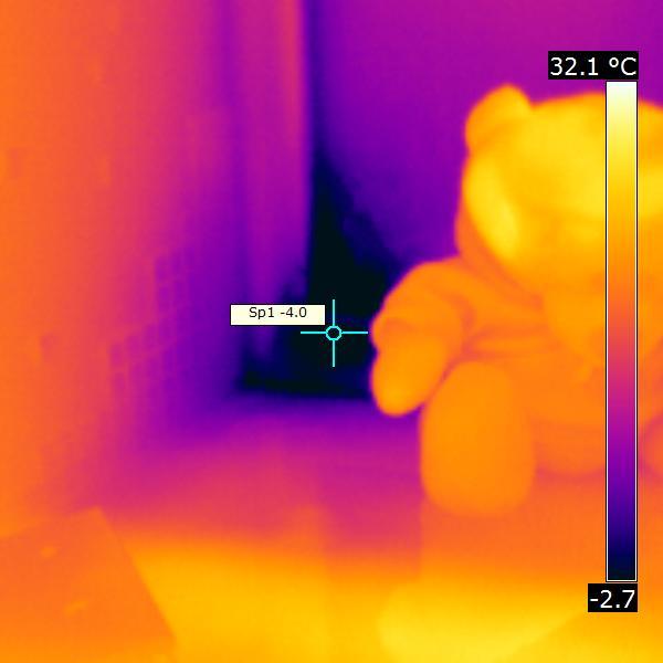 тепловизионная съемка промерзания окон