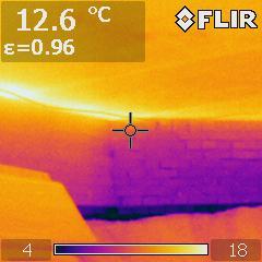 термограмма неутепленного фундамента дома
