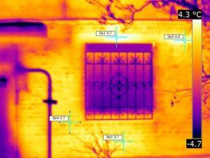 термограмма стена силикатный кирпич