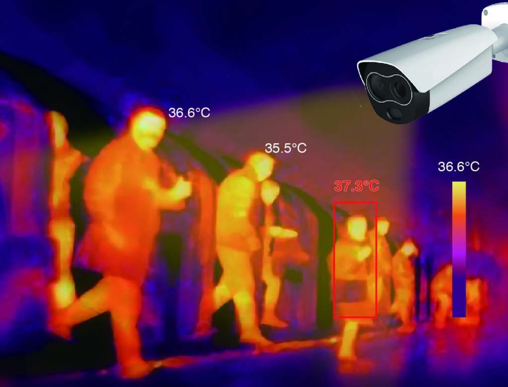 Измерение температуры тела человека тепловизором
