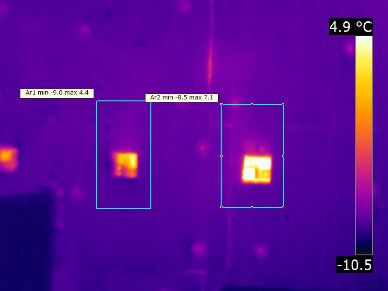 мостик холода - термограмма наружной съемки